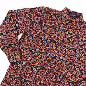 Alen Flusser Red Navy Paisley Button Down Shirt